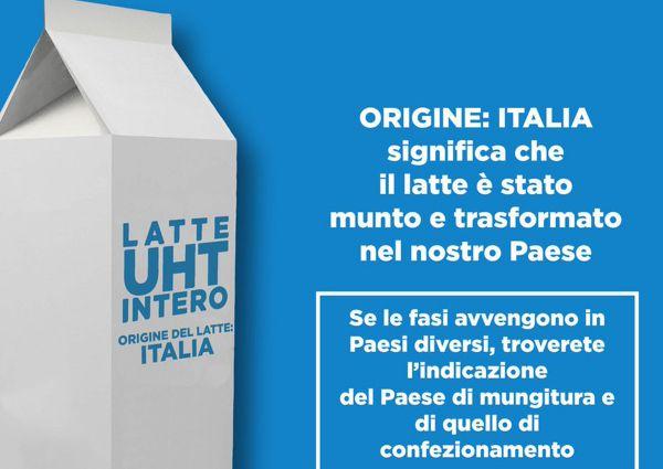 Leggi l'etichetta c'è l'origine del latte
